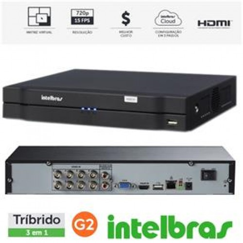 DVR Multi HD Intelbras MHDX-1008 - 8 Canais